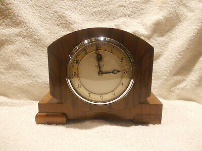 1940/50s SMITHS 240volts WOODEN MANTLE CLOCK, untested sold as spares or repairs