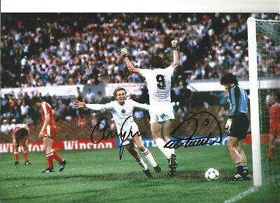 Gary Shaw Peter Withe Aston Villa hand signed authentic football photo SS035A