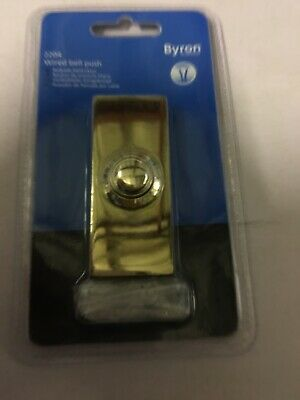 Byron 2204 Surface Mounted Wired Door Bell Push Button - Solid Brass - new