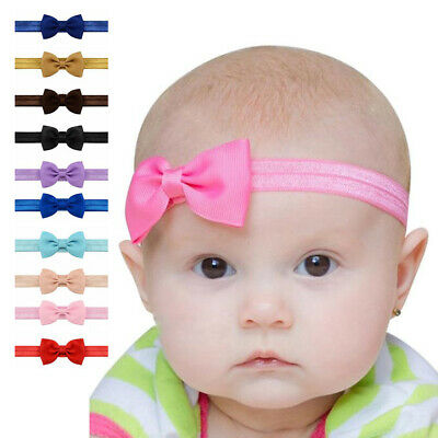 Elastic Baby Headdress Kids Hair Band Girls Bow Newborn Headband Babies Bands