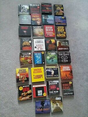 Mixed Lot 30 Audio Books CD Novels Crime Suspense Murder Mystery Thriller ^