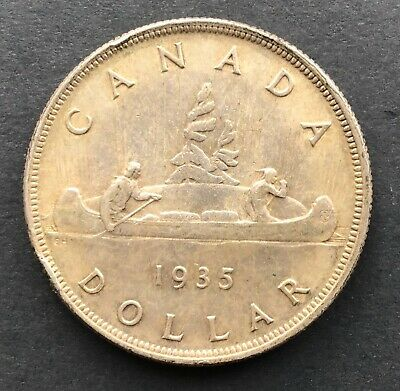 1935 Canadian Silver Dollar, No Reserve!  As shown on picture