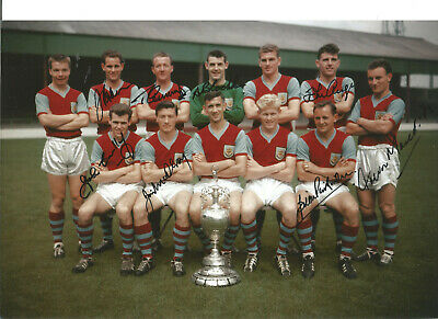 Burnley FC Champions 10x8 inch hand Multi signed authentic football photo SS064A