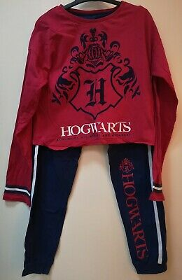Girls Hogwarts / Harry Potter Pyjamas Age 10-11 Cropped Top Style