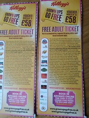 2 Free Adult Entry Merlin Voucher Codes To Alton Towers Lego Sealife  30/6/2021