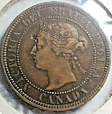 Canada 1888 Queen Victoria Large Cent      Free shipping