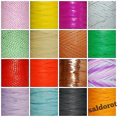 Many Colours RAFFIA Ribbon Cut Lenght 1~5~10~20m  FLOWERS GIFT WRAPPING CRAFTS