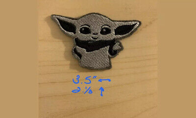 Iron On Embroidered The Child Mandalorian Baby Yoda Patch Iron On Embroidery