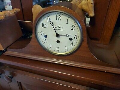 Antique Seth Thomas Westminster Mantle Clock tombstone serviced & no reserve!!!