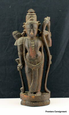 Ancient Hindu Hari Krishna carved wooden statue 4th or 5th century OLD