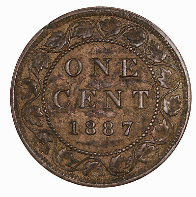 Raw 1887 Canada 1C Uncertified Ungraded Canadian Large Cent Coin