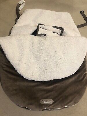 JJ Cole Collections Bundleme Infant Baby Brown Cream Car seat Cold Weather Cover