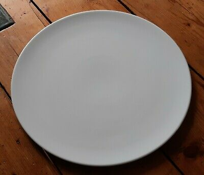 Large West German Seltmann Weiden White Porcelain Cake Stand Plate