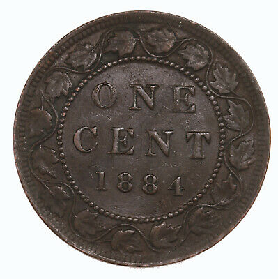 Raw 1884 Canada 1C Uncertified Ungraded Canadian Large Cent Coin