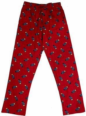 Polo Ralph Lauren Men's Flannel Pajama Sleep Pants RED S M L USA SWEATER Bear