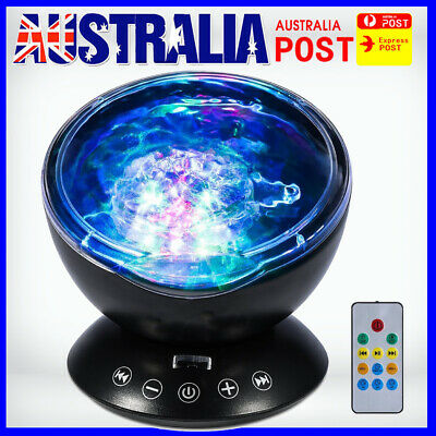 New 2019 Relaxing Projector Music Ocean Wave LED Night Remote Lamp fh