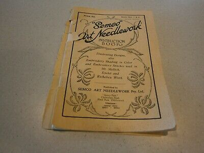 Vintage Semco Art Needlework Instruction Book  - Embroidery - Price 6D Melbourne