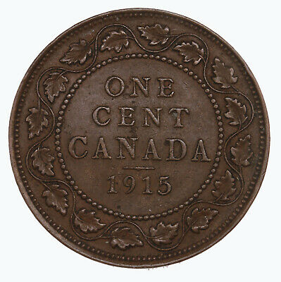 Raw 1915 Canada 1C Uncertified Ungraded Canadian Large Cent Coin