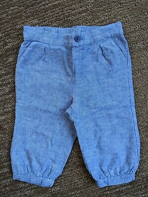 Janie And Jack Baby Boy Light Blue Pants Size 6-12 Months