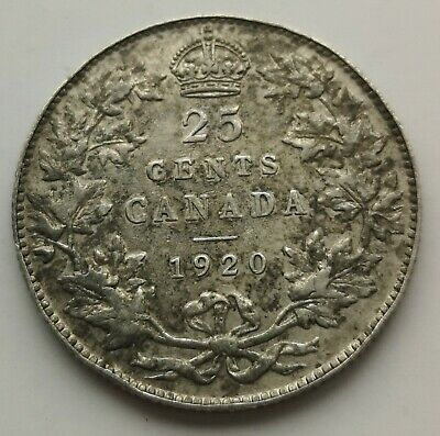 *** Canada  King  Georges V  25 Cents  1920  #1 ***