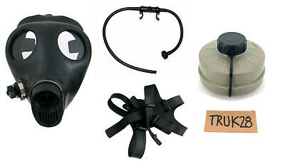 ISRAELI GAS MASK (Adult Size) w/ sealed 40mm Filter + Drinking Straw (NEW)