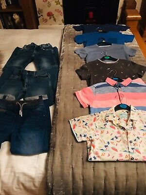 Bundle Boys Clothes Size 7 8 Years Next Jeans Tops T Shirts