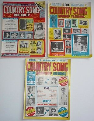 1966 Country Song Roundup Magazine, Yearbook & Annual, 3 issues Country Music
