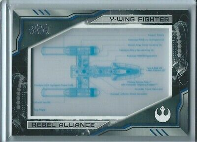 2019 Topps Star Wars Skywalker Saga Y-Wing Fighter BLUEPRINT RELIC #126/250