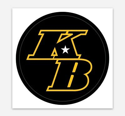 KB Kobe Bryant Decal Sticker for Car, Laptop, Window, Bumper Lakers 3""
