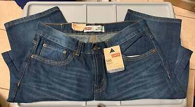NWT Levi's Jeans 505 Regular Boys Size 12 H Straight  Leg 100% Cotton Distressed