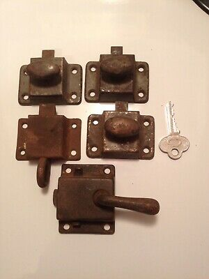 Vintage Lot Of Cabinet Latches Jam Cupboards