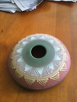 Navajo Pottery- etched signature L Smith well known Navajo potter