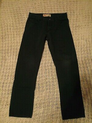 Levi's Boys Size 16R 513 Green Pants.