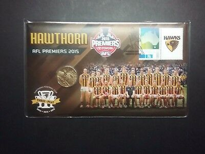 2015 pnc AFL HAWTHORN ** No 2405/ 3,000 ** Coin Stamp Plastic Cover FREE POST Un