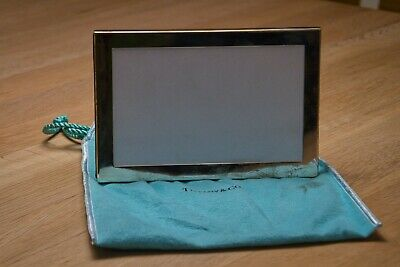 Mid-Century Modern Sterling Silver Leather Backed Picture Frame by Tiffany & Co.