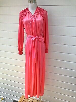SUSSAN Womens Vintage Pink Long Robe Dressing Grown - Size 12