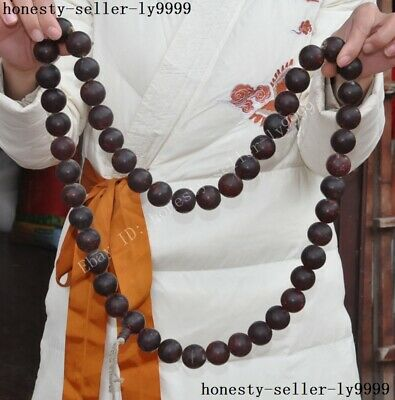 50 grain Chinese amber carving Buddhism buddha amulet necklace Prayer beads