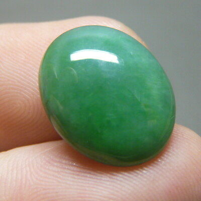 9.4 ct Genuine Jadeite Jade (Natural-Type A) Green-White Cabochon