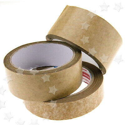 Brown Self Adhesive Picture Frame Backing Tape 50m Length 24/38/50mm Width