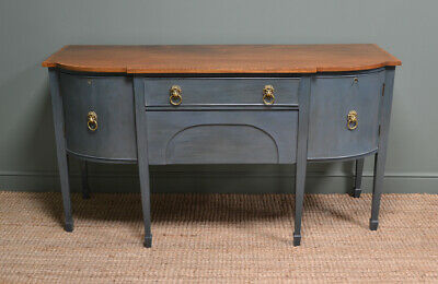 Victorian Bow Front Antique Painted Sideboard