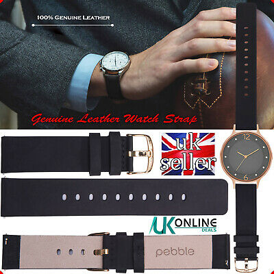 Pebble®Genuine Leather Strap Wrist Band For Samsung Galaxy Watch S2 Gear 20mm UK