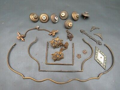 Job lot of antique & vintage clock case parts - spares or parts