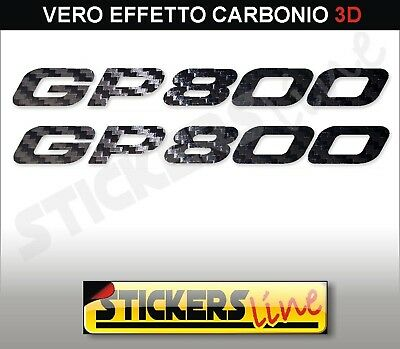 2 Stickers Resin Gp 800 Letters 3D Compatible for Scooter Gilera Gp800 Silver