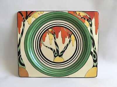 "Clarice Cliff original ""Bizarre"" plate / dish, Art Deco / circa 1930, tree decor"