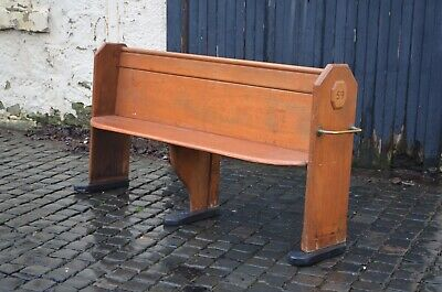 Victorian Scumble Painted Church Pew