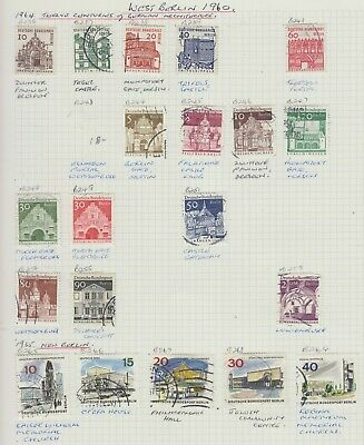 G6 A Page Of West Berlin Germany Used Stamps From Collection