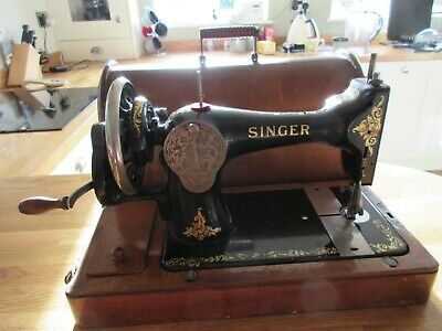 Singer 128k Sewing Machine with Hand Crank with Lots of Extras Super Condition