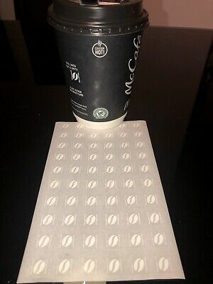 30 CUPS 180 COFFEE ULTRAVIOLET BEAN STICKERS DEC 2020 McdonalDS