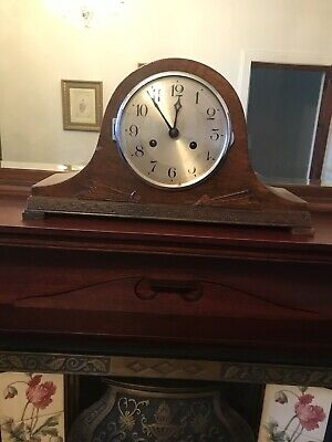 Vintage Art Deco Mauthe  Mantel Clock   Number 725190   Wind Up Chimes With Key