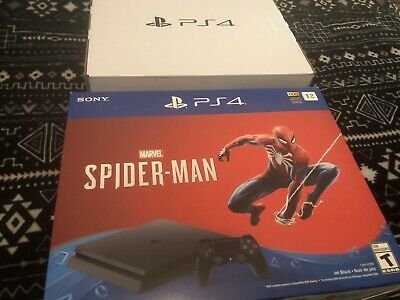 2 New Sony Playstation 4 Console Boxes PS4 Spider Man empty & inserts ONLY